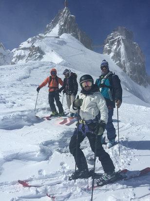 Chamonix Mont-Blanc - About 2 feet fresh today on Aiguille du Midi - ©iPhone