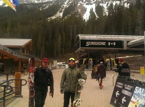 Sunshine Village - ski out is gone. people are sparce. season is over scro  - ©bkyle780