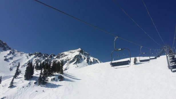 Arapahoe Basin Ski Area - Epic Spring skiing at A BASIN friday the 13th. Cobalt blue sky on pure white sunsoft groomers. And cool breeze! - ©billkipp33