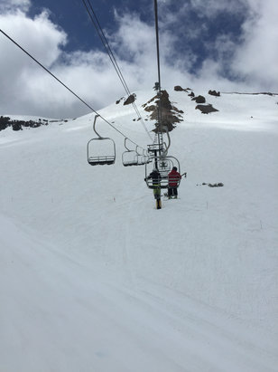 Mammoth Mountain Ski Area - Good coverage for late May.  Yesterday the top was bulletproof due to the cold snap. Bottom softened up nicely for some late season corn skiing.  - ©Alex_iPhone