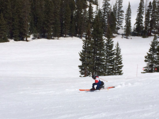 Arapahoe Basin Ski Area - Still plenty of snow, worth the trip. - ©Taylor Leege's iPhone