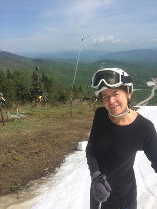 Killington Resort - Linda says , I'm melting , I'm melting!! But I'm still skiing !! Happy Memorial Day! Maybe one more day , happy turns !  - ©iPhone