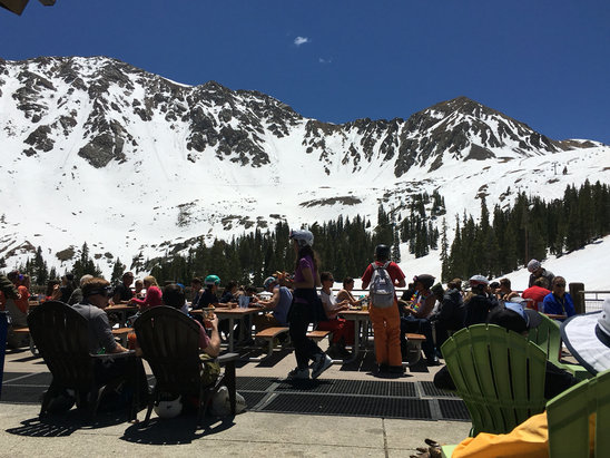 Arapahoe Basin Ski Area - Great sunny and warm day on the slush at the basin!  Heard the season got extended another week? - ©STEVEN KEER's iPhone