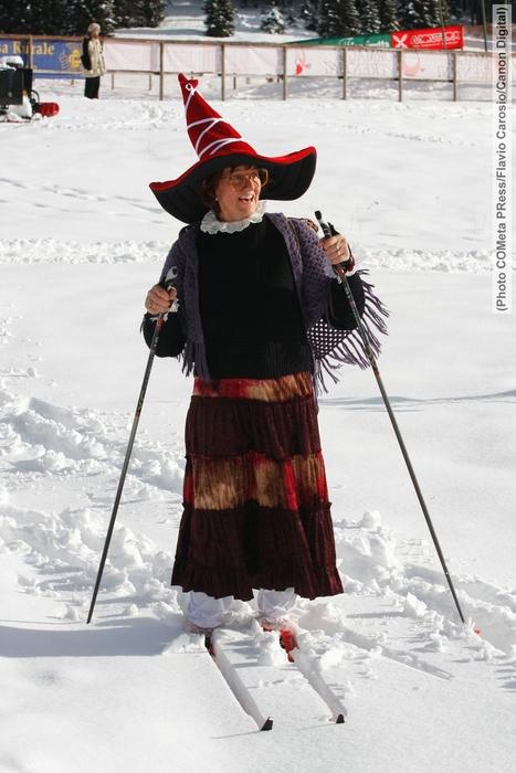 Skiing witch at Lavarone ITA Befanalauf  photo COMetaPRess/Flavio Carosio/CanonDigital