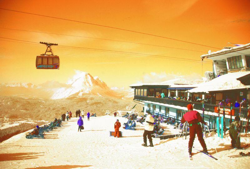 Gondola and ski station at Seefeld