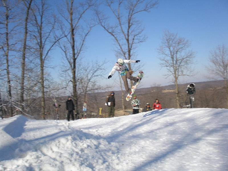 Snowboarder at Hidden Valley MO