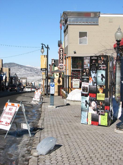 Posters for films at Sundance, UT.