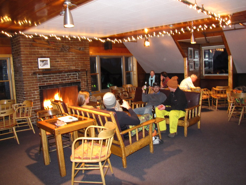 Inside the Sitzmark Bar at Alta, Utah