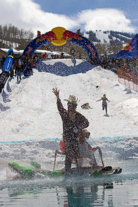 Red Bull pondskim event at Aspen.  1stPlace_TheOutlaws_PhotoOfJennyMarshall Photo by Jeremy Swanson