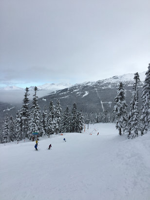 Whistler Blackcomb - Yesterday at Whistler/Blackcomb was great. Only about 30 slopes open but the amount of powder was ridiculous. Lookslike a good start to the season! - ©Shan's Iphone