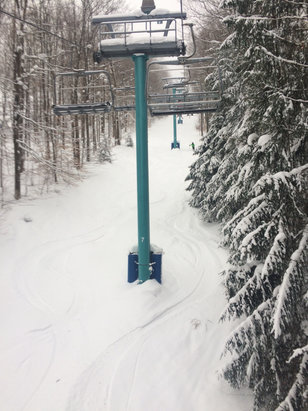 Holiday Valley - Great powder day yesterday but rained overnight. Today started snowing but damage was done. 1
