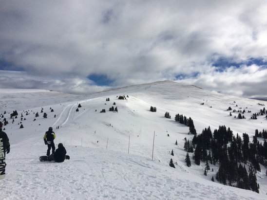 Keystone - North bowl and South Bowl are well worth the walk plenty of powder it has not been tracked out yet. All of the other runs have great soft snow and are filling in - ©Ryan Hofsheier's iPhone