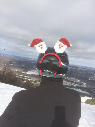 Elk Mountain Ski Resort - Linda says , Santa Claus is skiing to town @ elk mt . Merry Christmas !! Happy turns!!  - ©iPhone