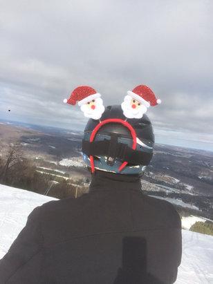 Elk Mountain Ski Resort - Linda says , Santa Claus is skiing to town @ elk mt . Merry Christmas !! Happy turns!!  - ©iPhone
