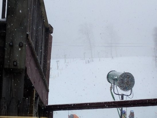Catamount - snowing and small lines. - ©yellow jacket