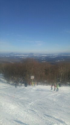 Jay Peak - Rewarded with a Bluebird day no wind and minimal lines. Tress were still deep and soft. 1/2/17 - ©malemay91