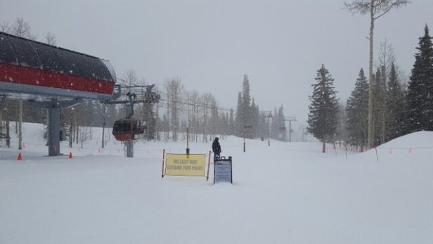 Park City - 40 mph winds caused some delays. but the snow didnt stop. Great day deep snow.  - ©doondoon831