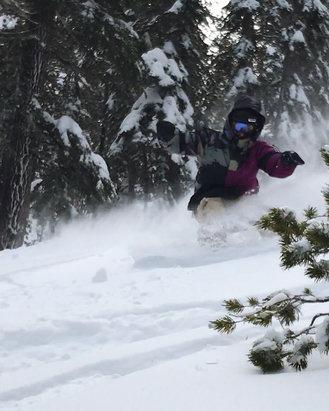 Mammoth Mountain Ski Area - Great snow for what was open !  - ©Jonathon Montini's iPhon