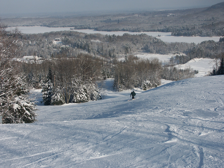 Skier at Giants Ridge, MN.