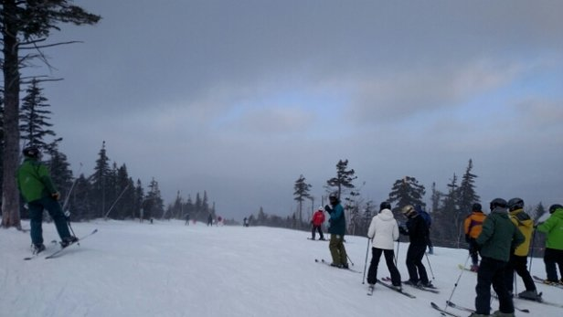 Sugarloaf - Icy spots, very windy though.  - ©jennlally