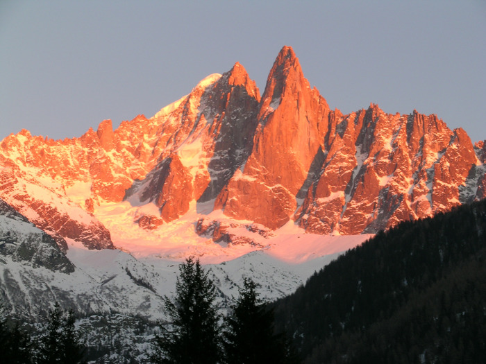 The peaks of Chamonix FRA