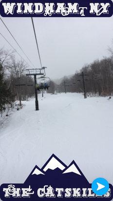 Windham Mountain - 2/2/17- Powder, Powder, Powder. Fantastic conditions!!! Every run had soft powder just amazing. Thanks Windham!!! - ©iPhone (2)