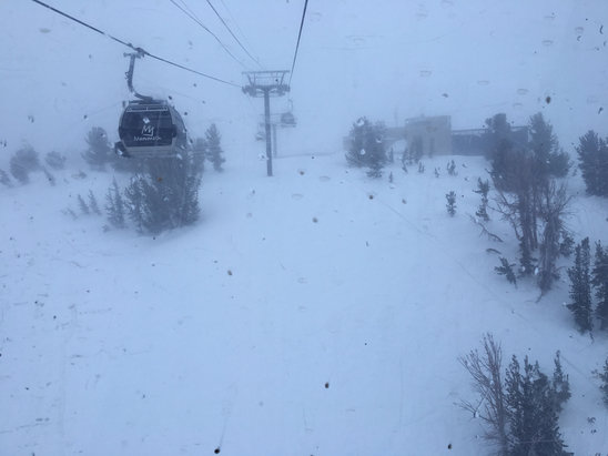 Mammoth Mountain Ski Area - White out powder day, but still awesome after three days of blue bird!!! - ©Greg's iPhone 6s