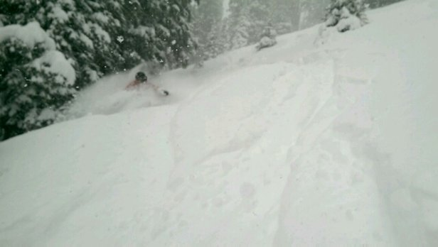 Sunday River - snow was falling all day.  dust on crust.   Everyone south stay home this weekend - ©G