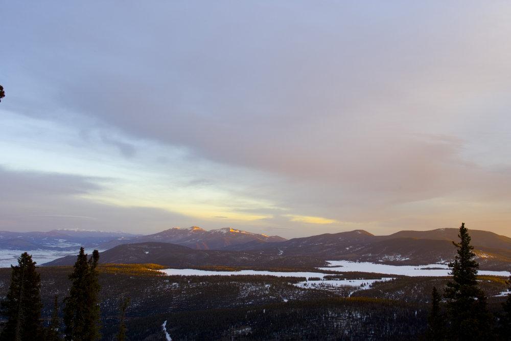 Sunrise at Angel Fire. Photo by Jack Affleck.