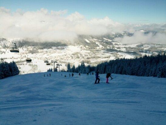 Oberjoch - Samstag, 18 Feb Wenn eine Piste um 9:20 so aussieht, dann weiß ich auch nicht mehr!! - ©Anonym