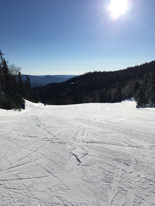 Tremblant - Beautiful day at Tremblant with thin powder / groomed slopes. Found the odd icy surprise but generally great skiing.  - ©G