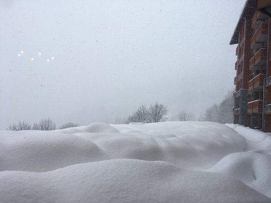 Les Arcs - It's been snowing here for 16hrs. Pow pow pow - ©jG