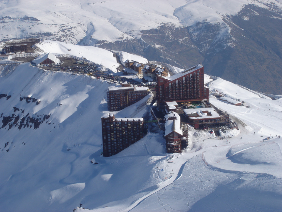 Aerial view of Valle Nevado, Chile.