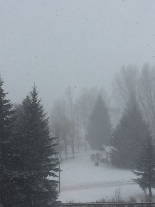 Beaver Creek - Windy and snowing in Avon. The vis is poor here. Tomorrow's gonna b great.  - ©Pamela H Masterson's iPh