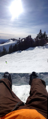 Mt. Hood Meadows - Had a great day yesterday. A tad bit slushy toward the end but pretty good conditions throughout the day. Sun too! - ©Zach's Magical iScroll