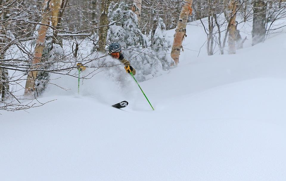 13 inches in 24 hours seems to bring out the best in people. - ©Stowe Mountain Resort