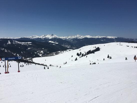 Vail - still plenty of snow on upper mountain - ©iPhone