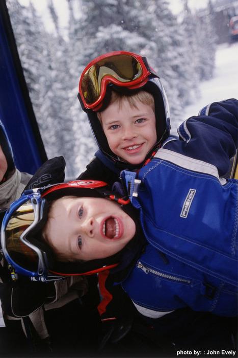 Kids at Sunshine Village, Alberta.
