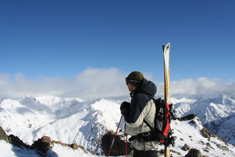 A skier at Cerro Catedral, Argentina.