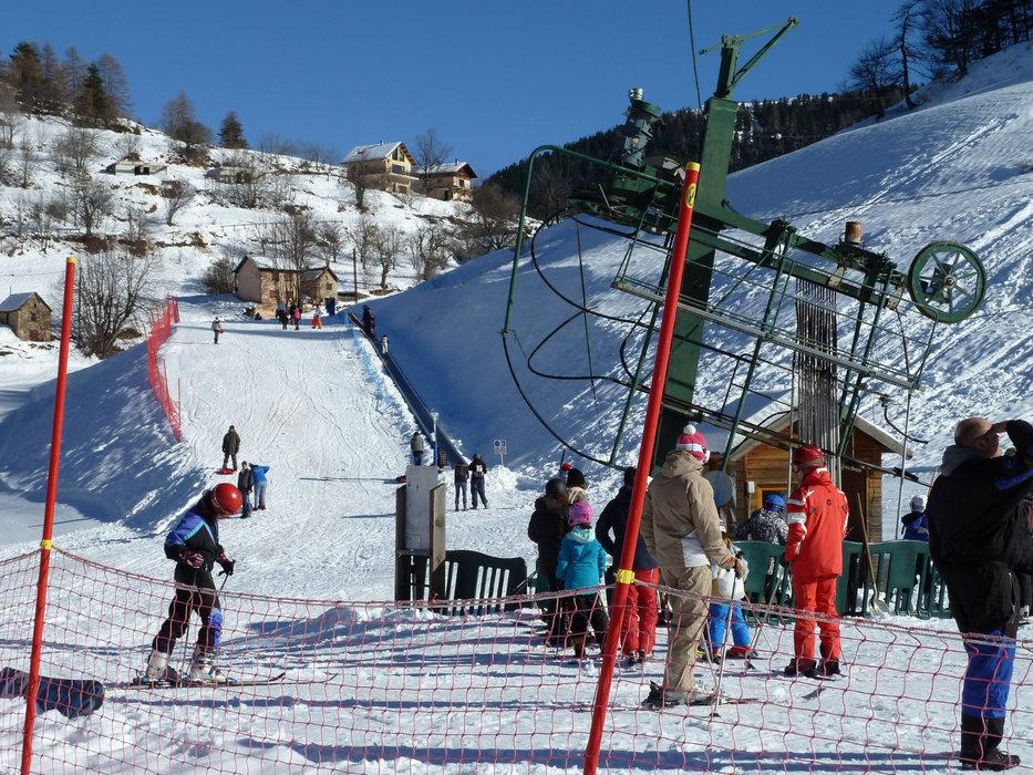 Le départ des pistes de ski de Roubion les Buisses