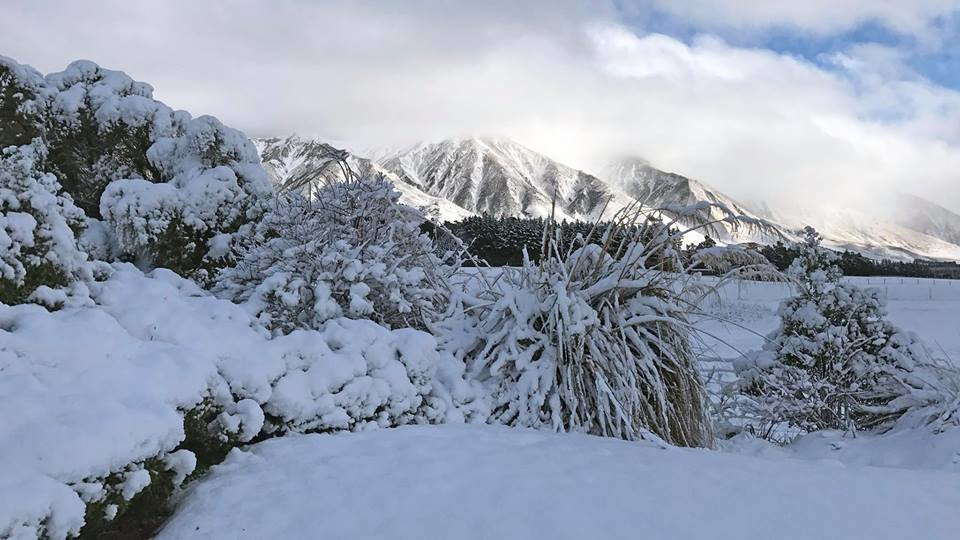 Neuschnee im Skigebiet Mt. Hutt - ©Mt. Hutt Facebook