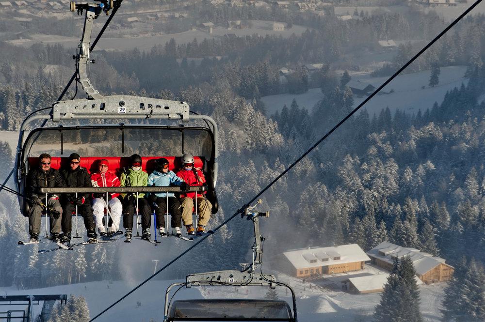 Moderne Fluhexpress in der Skiarena Steibis in Oberstaufen - ©www.allgaeubilder.info