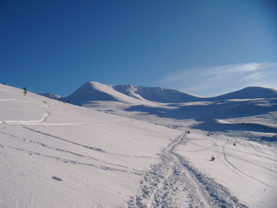 Fresh first tracks at Cairngorm, Scotland.