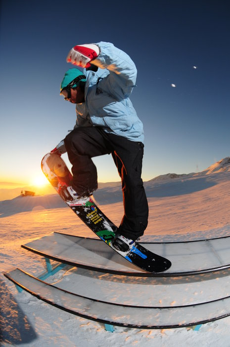 Snowboarder at El Colorado, Chile. Copyright: El Colorado Tourism