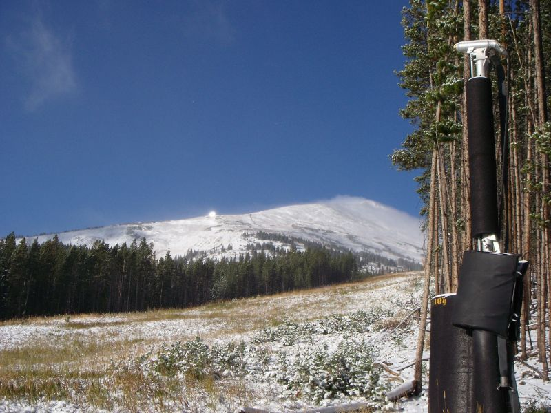 Breckenridge, Colorado waits for the arrival of new snow