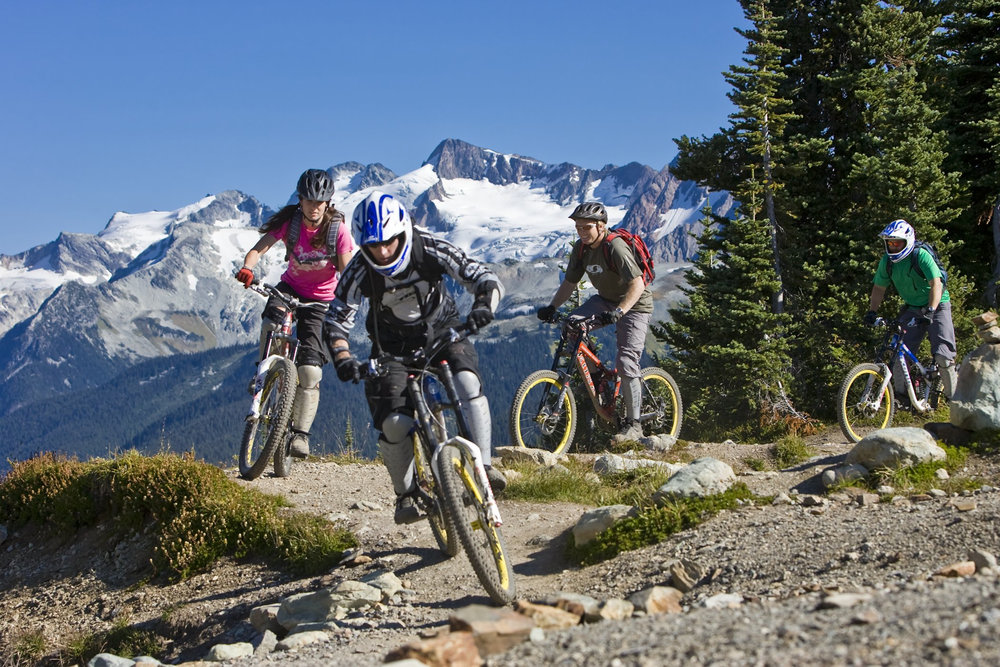 Bikers at Whistler, BC