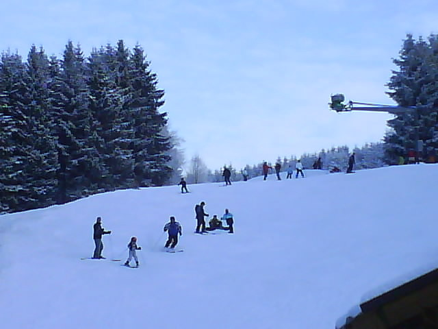 Busy slopes at Winterberg, Germany.
