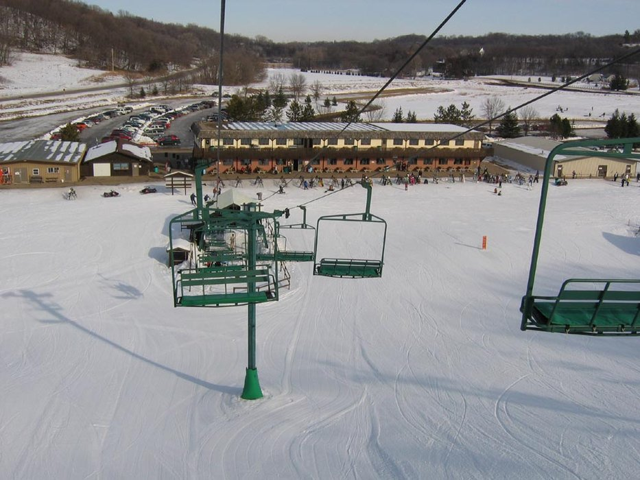 View from a lift at Mt Kato, MN.