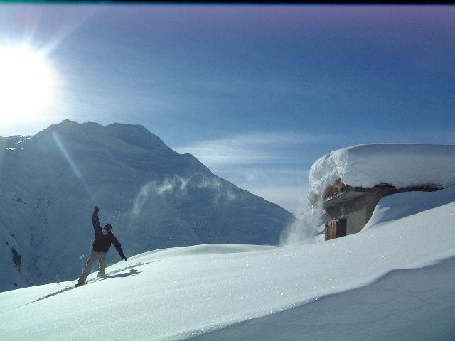 Skier at Sedrun, Switzerland.