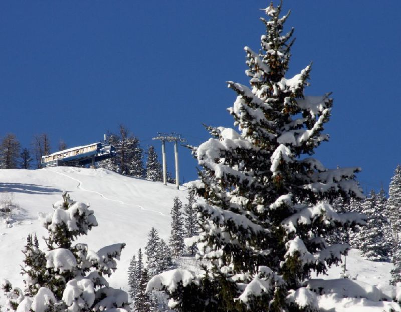 A view of a lift at Solitude Mountain Resort, Utah